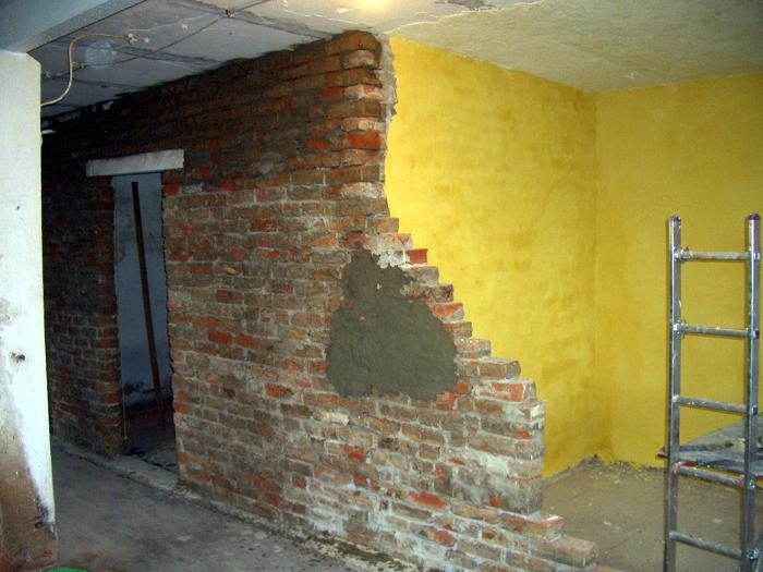 Mauern aus Recyclingziegeln