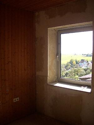 Obergeschoss Richtung Gastank Blick aus dem Fenster