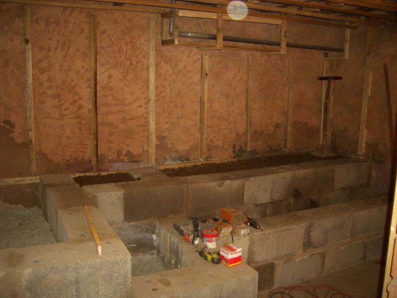 Innenausbau für die Schwitzhöhle